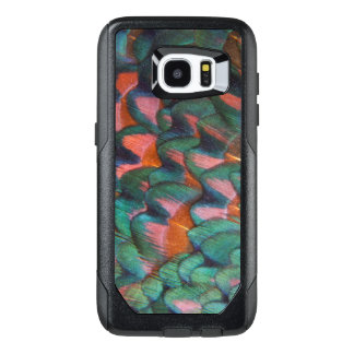 Colorful Pheasant Feathers Abstract OtterBox Samsung Galaxy S7 Edge Case