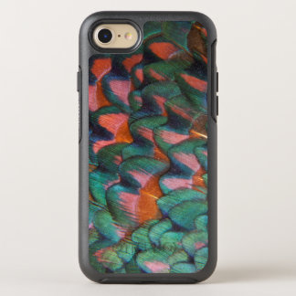 Colorful Pheasant Feathers Abstract OtterBox Symmetry iPhone 8/7 Case