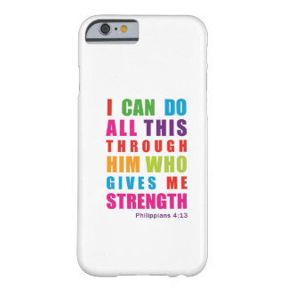 Colorful Philippians 4:13 iPhone 6 case Barely There iPhone 6 Case
