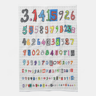 Colorful Pi Kitchen Towel