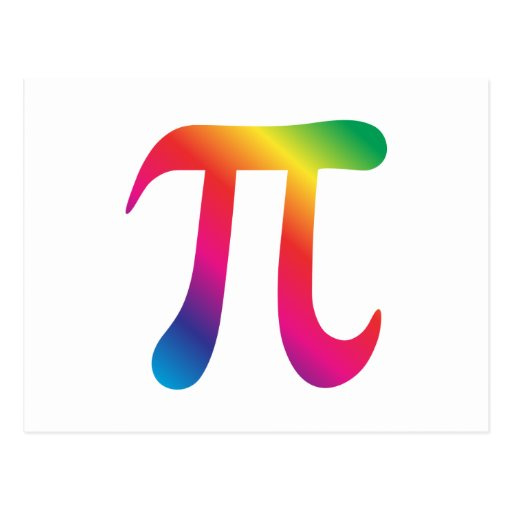 Colourful pi symbol zazzle for Pi character