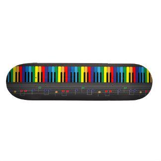 Colorful piano keyboard custom skateboard