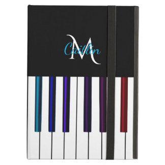 Colorful Piano Keys Monogram Case For iPad Air