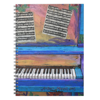 Colorful Piano Notebook