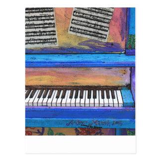 Colorful Piano Postcard
