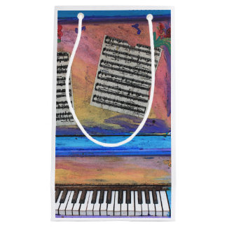Colorful Piano Small Gift Bag