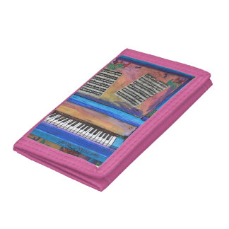 Colorful Piano Trifold Wallet