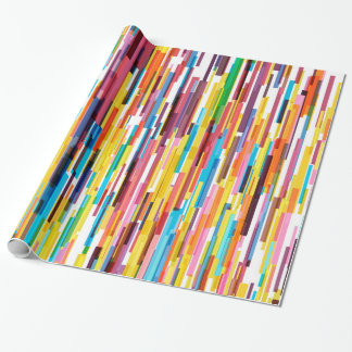 Colorful Pikes Pattern Wrapping Paper
