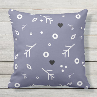 Colorful pillow with geometric hipster pattern