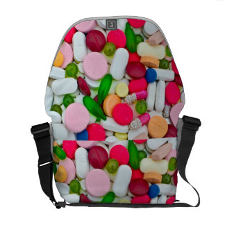 Colorful pills bag commuter bag