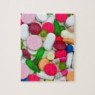 Colorful pills custom product jigsaw puzzle