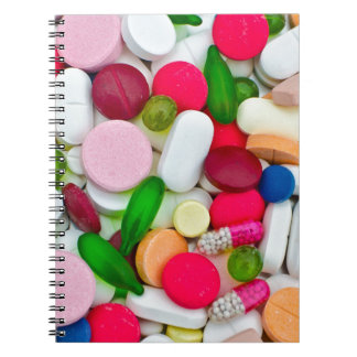Colorful pills custom product notebook