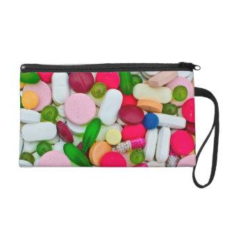 Colorful pills wristlet