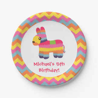 Colorful Pinata Mexican Fiesta Kids Party Plates