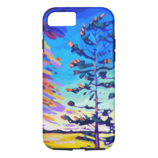 Colorful Pine Tree Painting Case-Mate iPhone Case