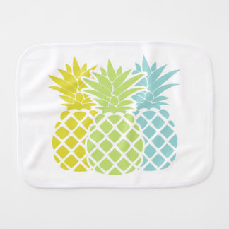 Colorful Pineapples Baby Burp Cloths