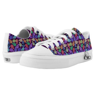 Colorful Pineapples, Low Top Shoes.