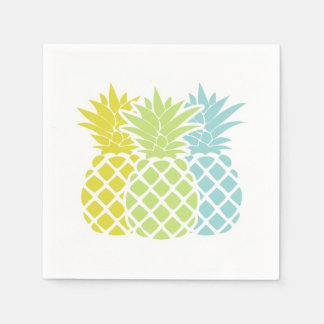 Colorful Pineapples Paper Napkins