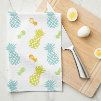 Colorful Pineapples Pattern Kitchen Towel