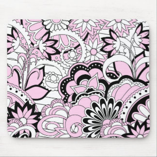 colorful pink boho pattern mouse pad