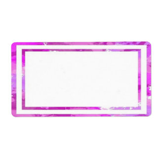 Colorful Pink Border Labels