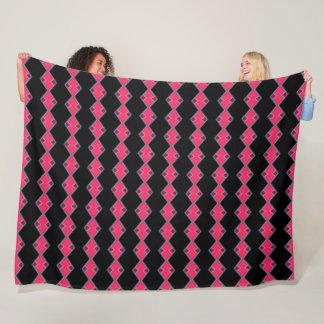 Colorful Pink Color Coyote Tribal Girl Pattern Fleece Blanket