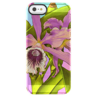 Colorful Pink Orchids Clear iPhone SE/5/5s Case