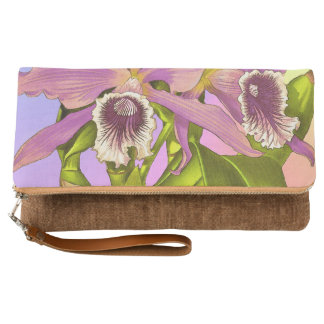 Colorful Pink Orchids Clutch