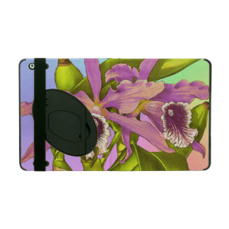 Colorful Pink Orchids iPad Cover