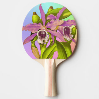 Colorful Pink Orchids Ping Pong Paddle