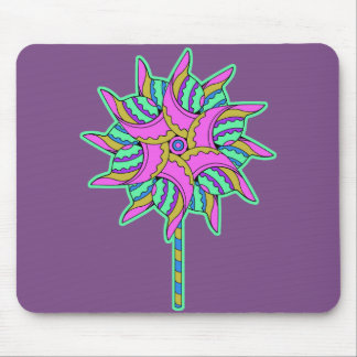 Colorful Pink Pinwheel 3 - Mouse Pad