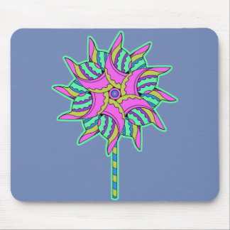 Colorful Pink Pinwheel - Mouse Pad