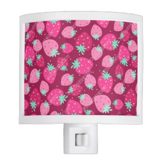 Colorful pink strawberry pattern night lights