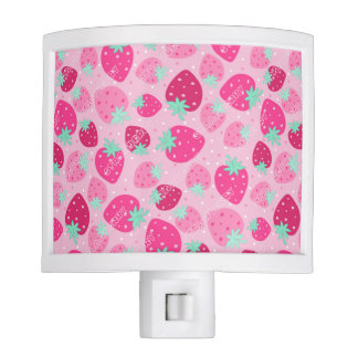 Colorful pink strawberry pattern night lites