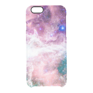 Colorful pink turquoise galaxy modern nebula clear iPhone 6/6S case