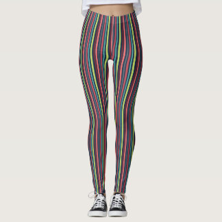 Colorful Pinstriped Leggings