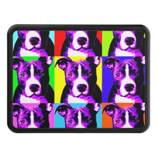 Colorful Pit Bull Trailer Hitch Cover 2""