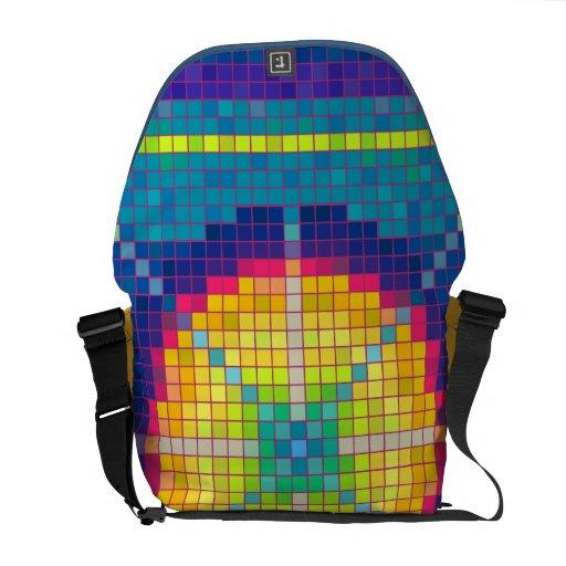 Colorful Pixel Art  Pattern Messenger Bag