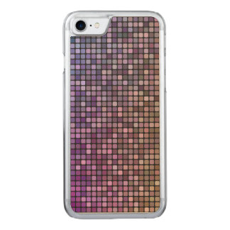 Colorful pixel mosaic carved iPhone 7 case