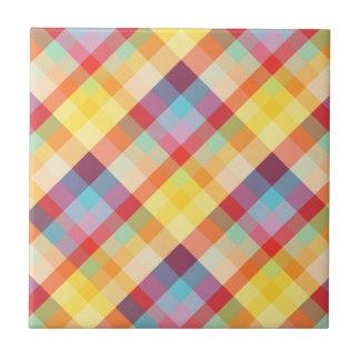 Colorful Pixelated Plaid tile