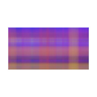 Colorful Plaid Stripes abstract Canvas Print