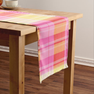 Colorful Plaid Table Runner