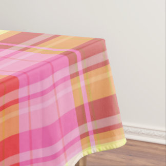 Colorful Plaid Tablecloth