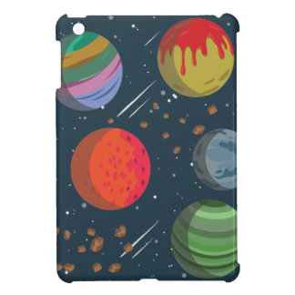Colorful Planets in Outer Space iPad Mini Cases