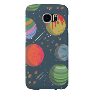 Colorful Planets in Outer Space Samsung Galaxy S6 Cases
