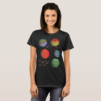 Colorful Planets in Outer Space T-Shirt