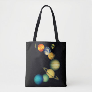 Colorful Planets of the Solar System Tote Bag