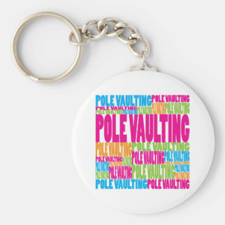 Colorful Pole Vaulting Keychain