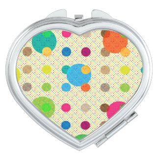 Colorful Polka Dot Compact Mirrors