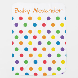 Colorful Polka Dot Gender Neutral Baby Blanket